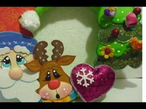 Decoracion De Navidad En Foami Para Puertas