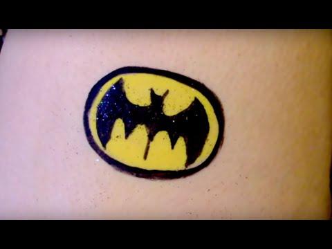 How To Face Paint A Batman Logo Youtube