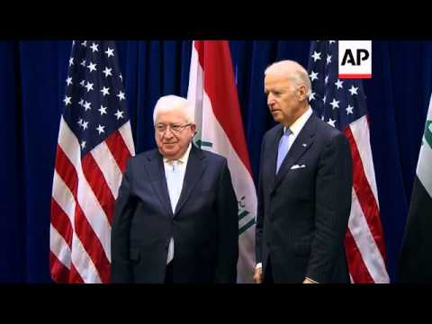 US VP and Iraq President comment on international action against Islamic State group