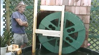 How To Build A Water Wheel - Uncle Knuckle's Workshop