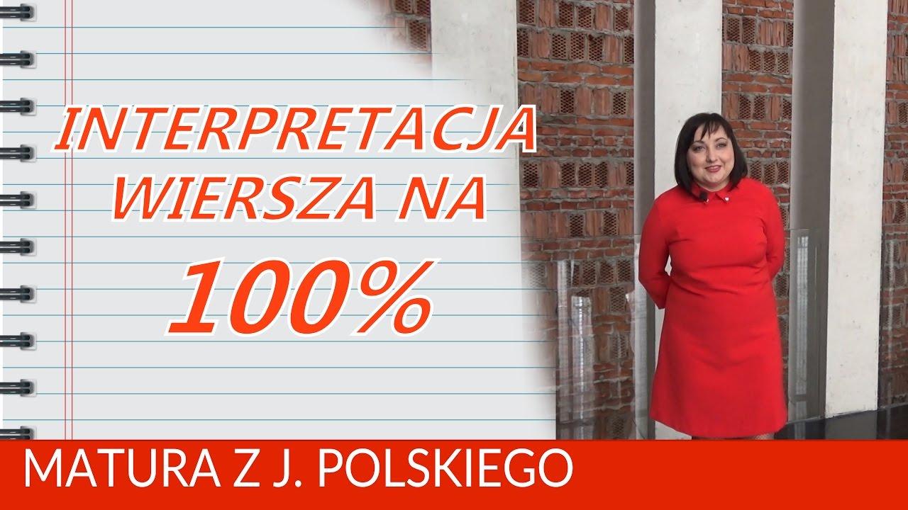 107 Interpretacja Wiersza Na Maturze Na 100 Nagranie Centrum Spotkania Kultur W Lublinie