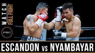 Escandon vs Nyambayar Highlights: May 26, 2018 - PBC on FS1