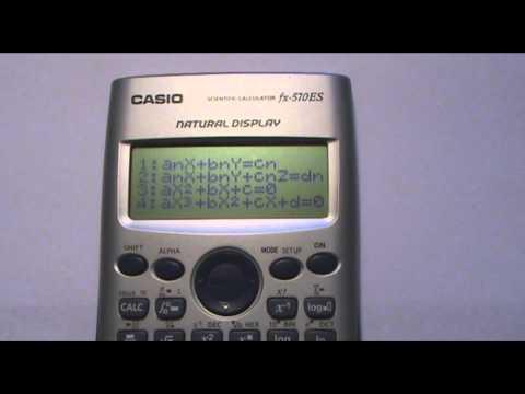 Polinomios con calculadora Casio fx 570 ES