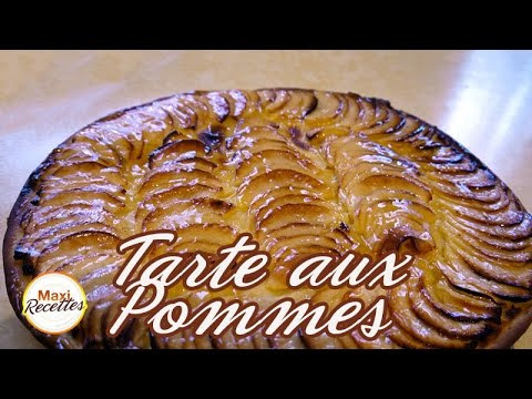 recette tarte aux pommes feuillet e la cr me p tissi re youtube. Black Bedroom Furniture Sets. Home Design Ideas