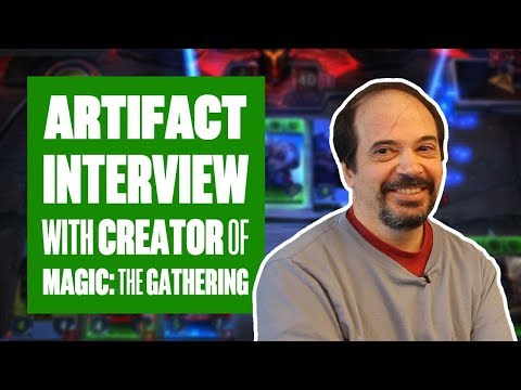 We interview Artifact's lead designer, Richard Garfield (AKA the creator of Magic: The Gathering)