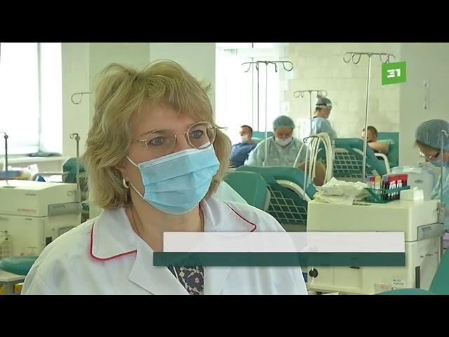 Гандболисты сдали 70литров крови навсероссийской донорской акции