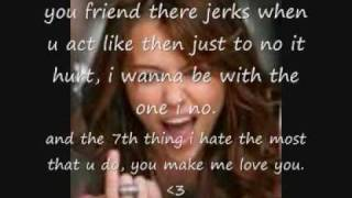 7 thing miley cyrus with lyrics