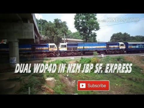 22182 Gondwana Express with Double Heading of WDP4D