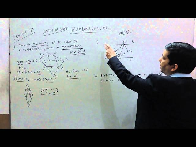 Properties of a Quadrilaterals