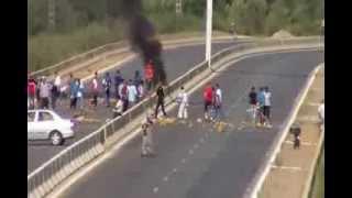 احتجاج سكان الكفافسة مدينة الشلف 22\09\2013