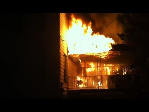Shamokin Fire Bureau - 4th. Alarm Arson Fire - Sunbury St. - FULL Video