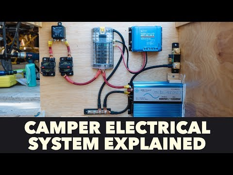 Off Grid Camper Electrical System Explained - Toyota Sunrader 4x4 Build Part 11