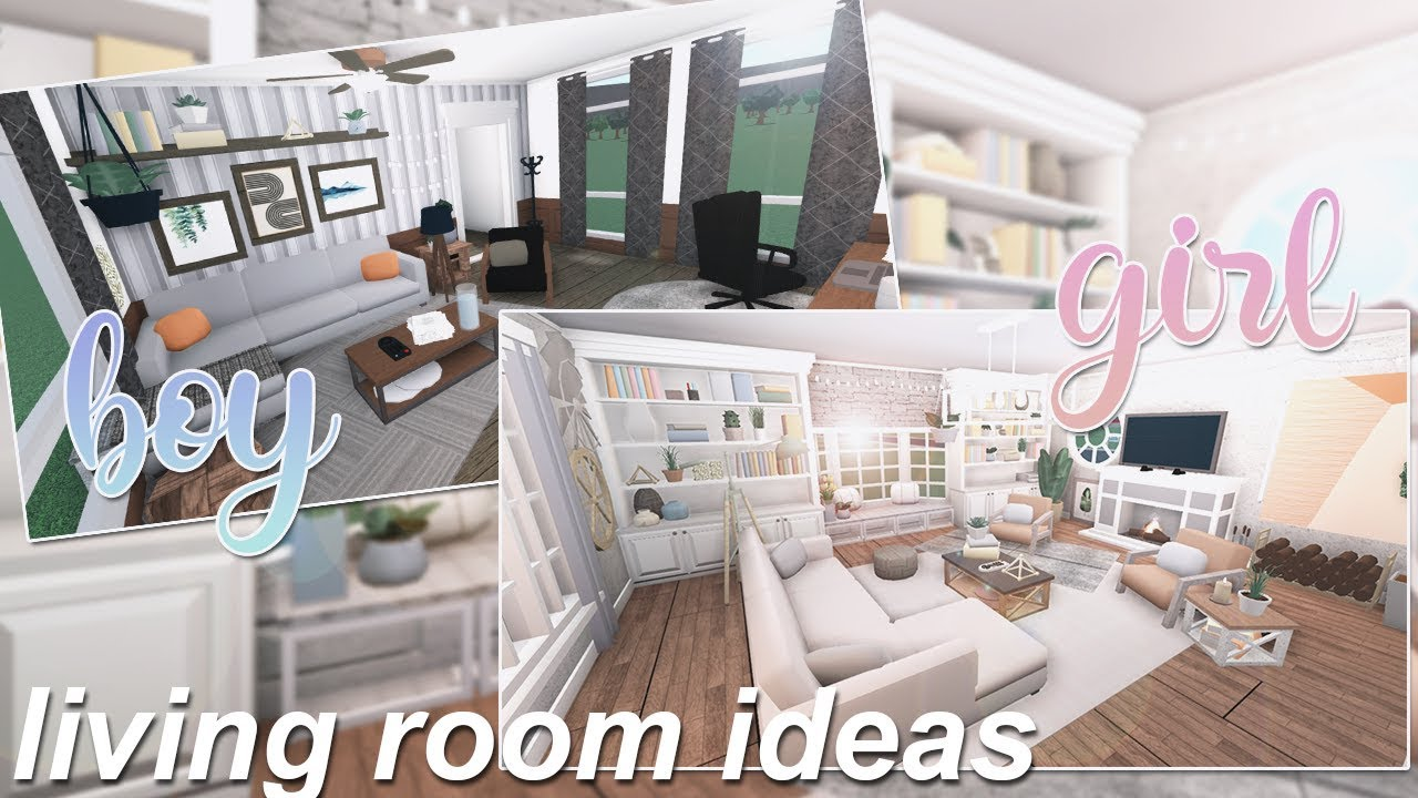 Boy Girl Living Room Ideas Roblox Bloxburg Youtube
