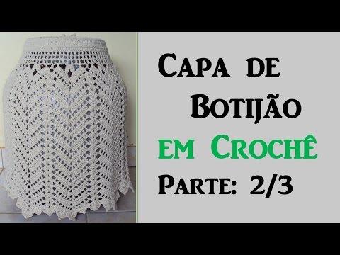 Capa de Botijão  em Crochê - Parte: 2/3 Por Wilma Crochê