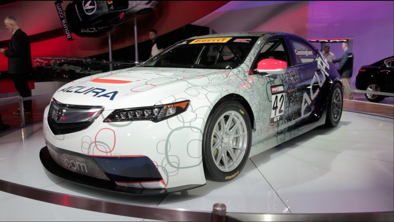 acura tlx gt race car 2014 detroit auto show youtube. Black Bedroom Furniture Sets. Home Design Ideas