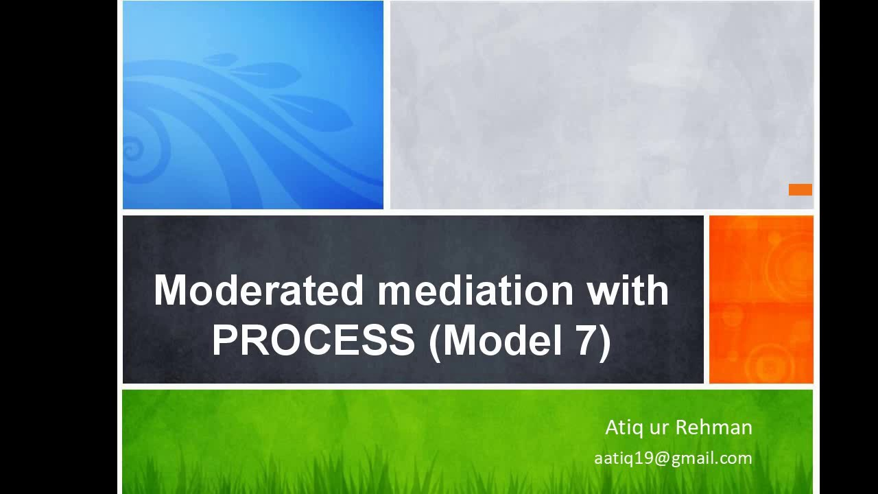 Moderated Mediation with PROCESS (Model 7)