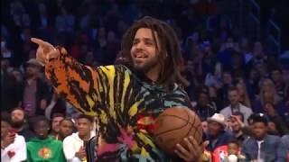 Dennis Smith Jr Dunks Over J Cole | NBA Dunk Contest 2019 Video