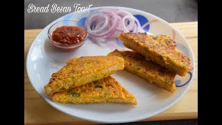 Bread Besan Toast Recipe   Quick and Easy Snack Recipes - English Subtitles #423