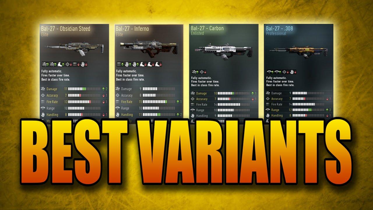 Best weapon variants in advanced warfare bal 27 obsidian steed