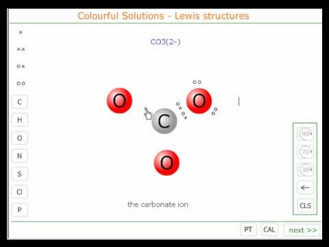 The Lewis structure of the carbonate ion - YouTube