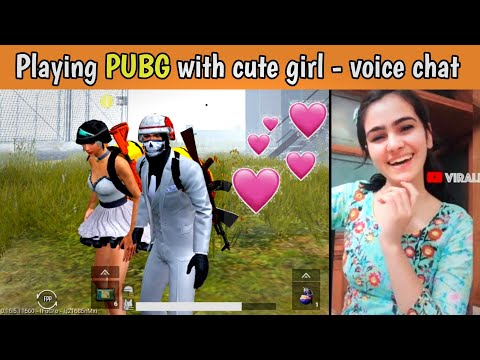 Playing PUBG MOBILE With Cute Girls - Cute Voice Chat