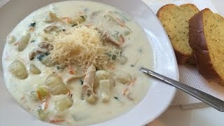 Olive Garden's Chicken Gnocchi Soup (step By Step)