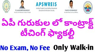Ap gurukula contract teaching facalti 2019 | ap jobs today