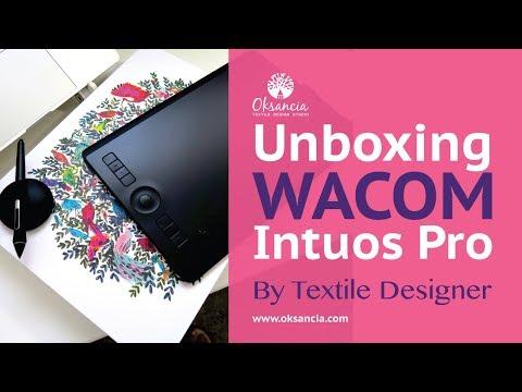 Wacom Intuos Pro Medium pen tablet unboxing 2018 by vector textile designer