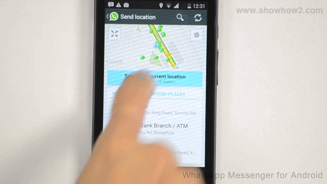 Whatsapp messenger how to send your current location youtube
