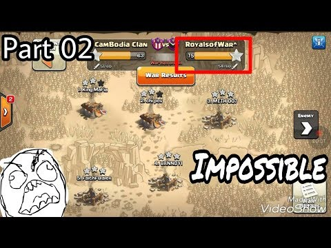 Part 2 Royalofwar 3 PEKKA Bowler Impossible Skills Destroy Different base th11 max By Clash of clans