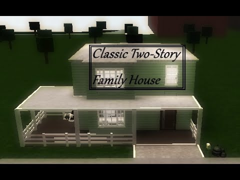 Roblox welcome to bloxburg classic family house two for Classic family home