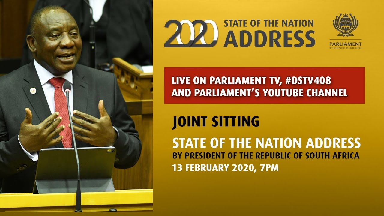 Watch Live President Ramaphosa Delivers The 2020 State Of The Nation Address Have you lived in your area for a while? 2020 state of the nation address