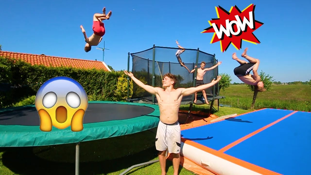 THE BEST BACKYARD EVER! (AIRTRACK + CRAZY TRAMPOLINES!) - THE BEST BACKYARD EVER! (AIRTRACK + CRAZY TRAMPOLINES!) - YouTube