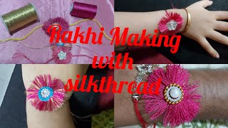 DIY/Easy Rakhi Making With Silk Thread/Handmade Rakhi's 2019