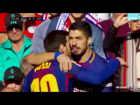 Real Madrid vs FC Barcelona 0 3 All Goals with English Commentary 2017 18 HD 720p