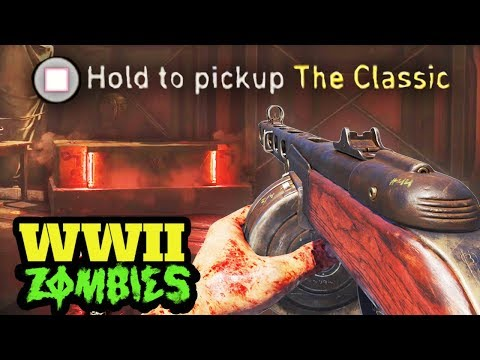 "WW2 ZOMBIES: NEW TREYARCH PPSH EASTER EGG! - SECRET ""CLASSIC"" PPSH! (Call of Duty WW2 Zombies)"