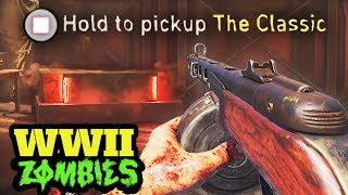 """WW2 ZOMBIES: NEW TREYARCH PPSH EASTER EGG! - SECRET """"CLASSIC"""" PPSH! (Call of Duty WW2 Zombies)"""