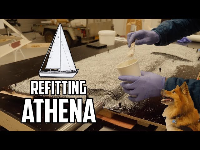 Sail Life - Making a fiberglass mold for the new rudder, part 1 of 2 - DIY boat project