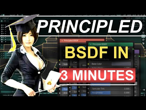 Blender 2.8 : Everything About The Principled BSDF (In 3 Minutes) thumbnail
