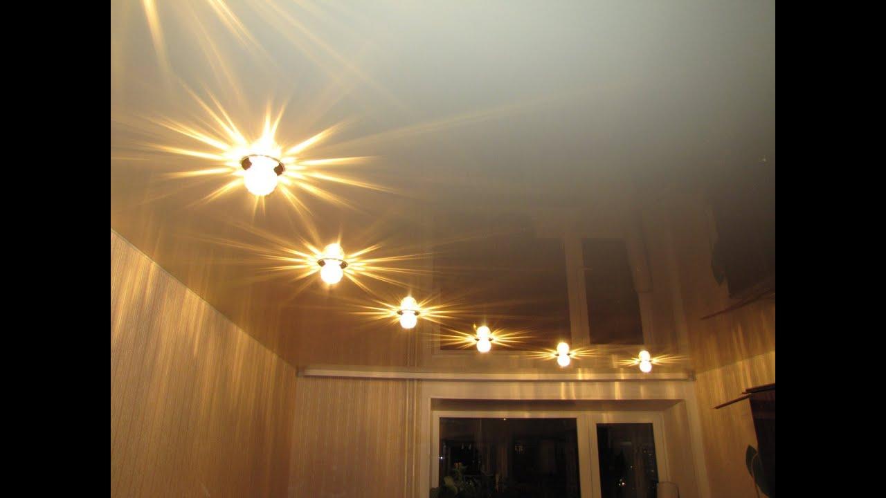 Натяжной потолок с встроенной светодиодной подсветкой (парящий) в .