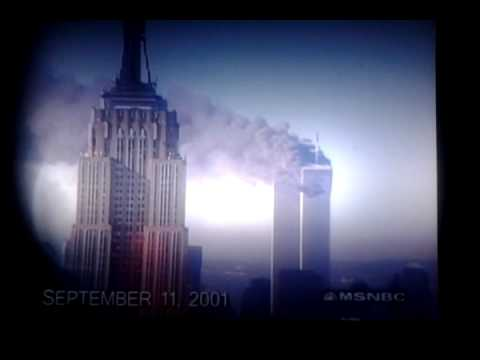 World trade center footage from 911 news