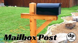 Reclaimed Timber Mailbox Post | Drawbored Mortise & Tenon | DIY