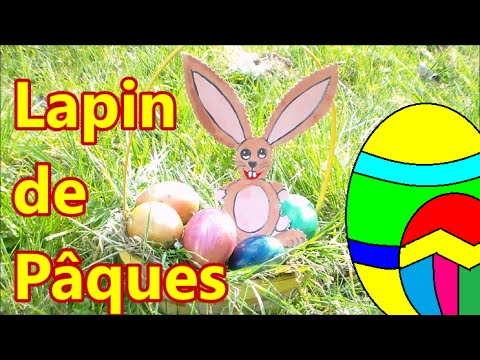 Lapin De P Ques Facile Faire En Carton Diy Youtube