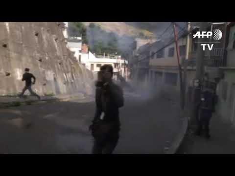 Civil Unrest In Caracas, Venezuela, After Reported Mutiny