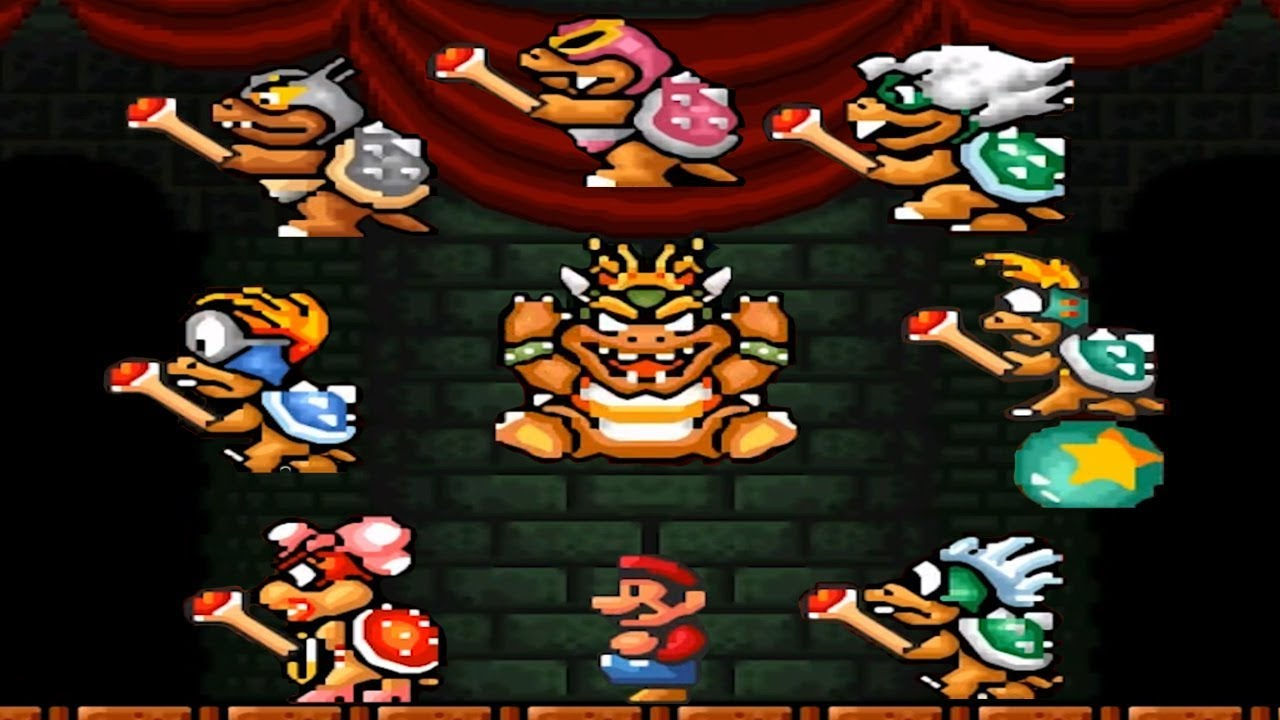 Super Mario Bros 3 All Koopaling Boss Battles Youtube