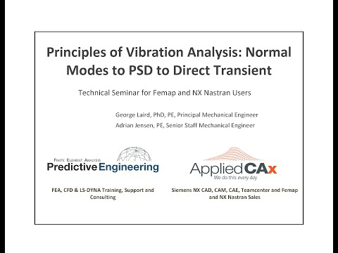 Principles of Vibration Analysis with Femap and NX Nastran: Normal Modes to PSD to Direct Transient