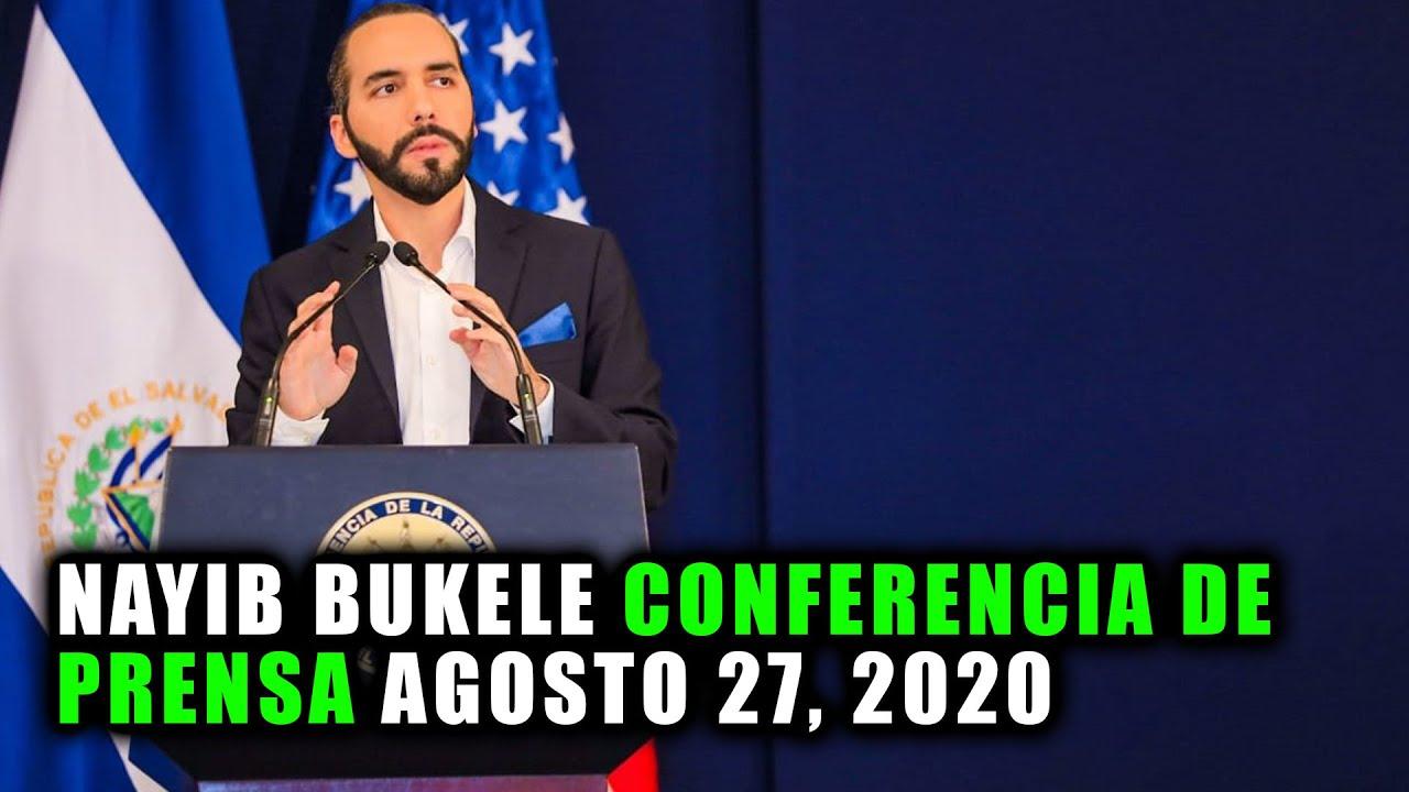 Nayib Bukele EN  VIVO Conferencia de Prensa