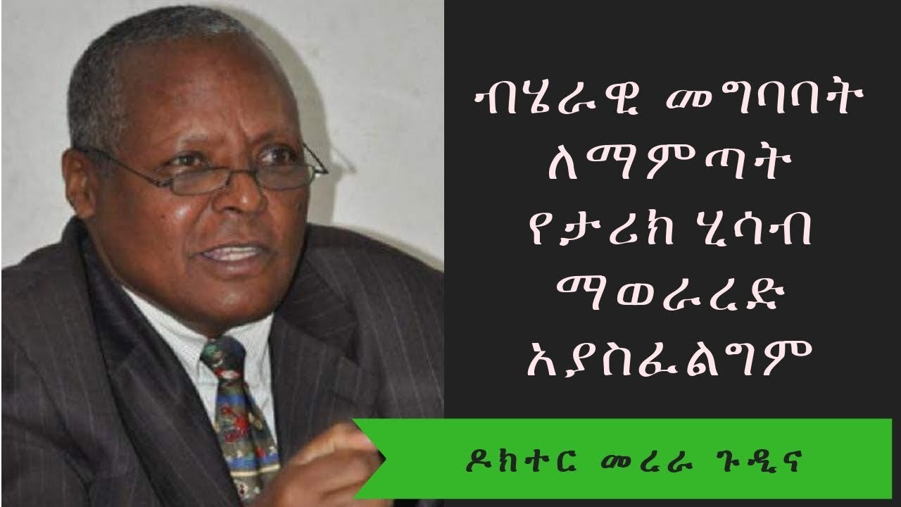Ethiopia: ብሄራዊ መግባባት ለማምጣት የታሪክ ሂሳብ ማወራረድ አያስፈልግም - ዶክተር መረራ ጉዲና