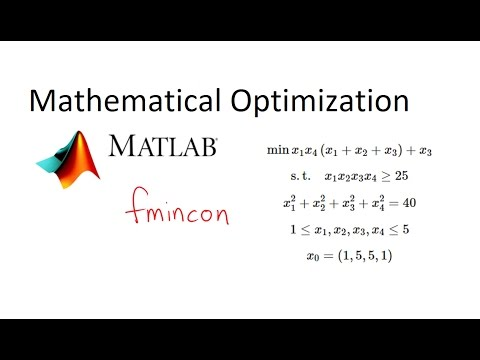 MATLAB Nonlinear Optimization with fmincon