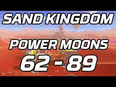 [Super Mario Odyssey] Sand Kingdom Post Game Power Moons 62 - 89 Guide